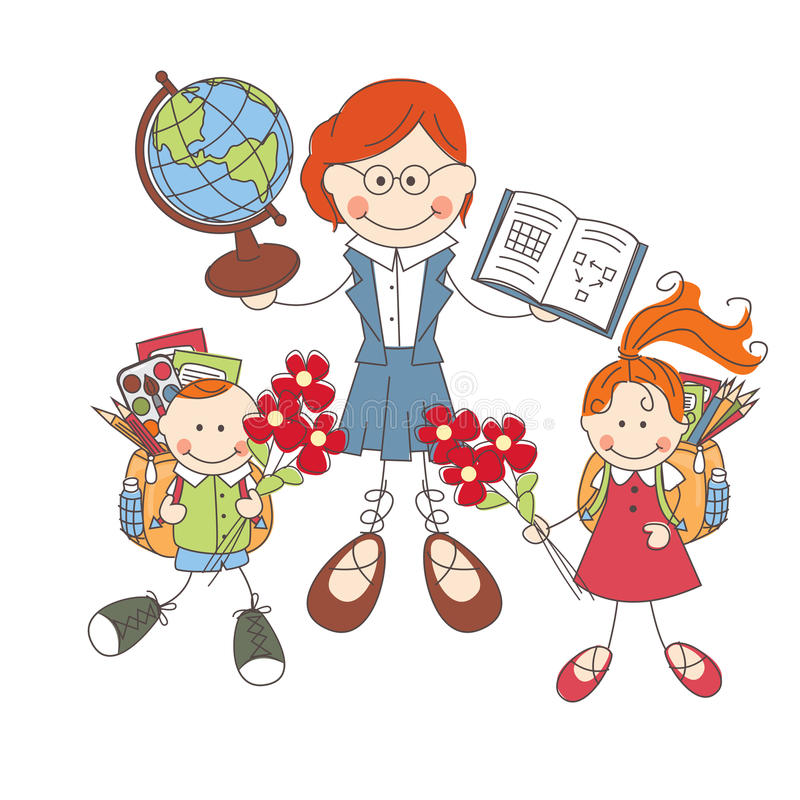 Popiera szkoła. ilustracji
