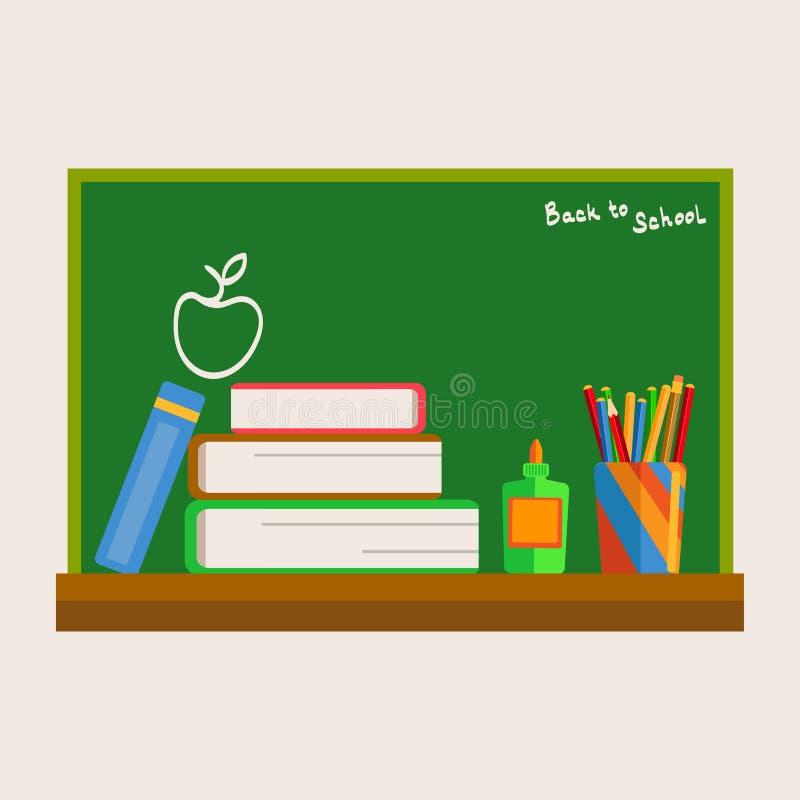 Popiera szkoła - Chalkboard ilustracja wektor