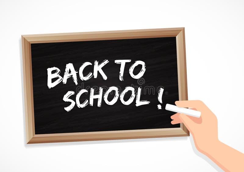 Popiera szkoła - kreda i blackboard ilustracja wektor