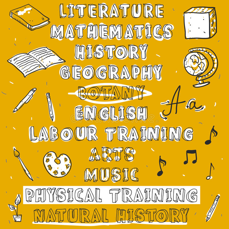 Popiera szkoła notatnika Szkicowi Doodles royalty ilustracja