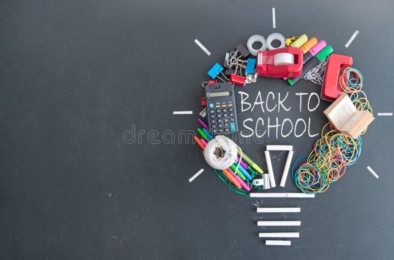 Popiera szkoły żarówka obrazy stock