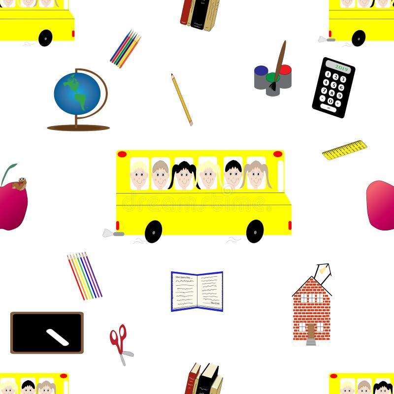 Popiera szkoły lub edukaci bezszwowy wzór ilustracji