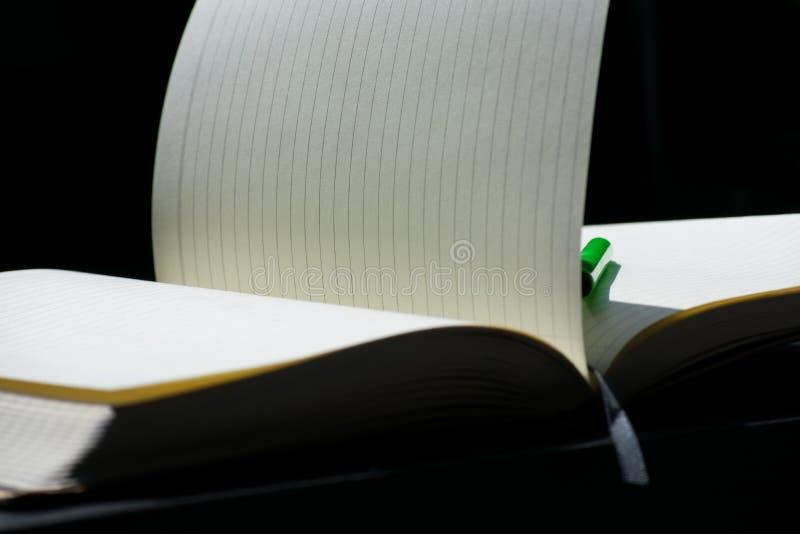 Popiera szkoły Noteblock notatnika zieleni markiera koloru notatki lato zdjęcie royalty free