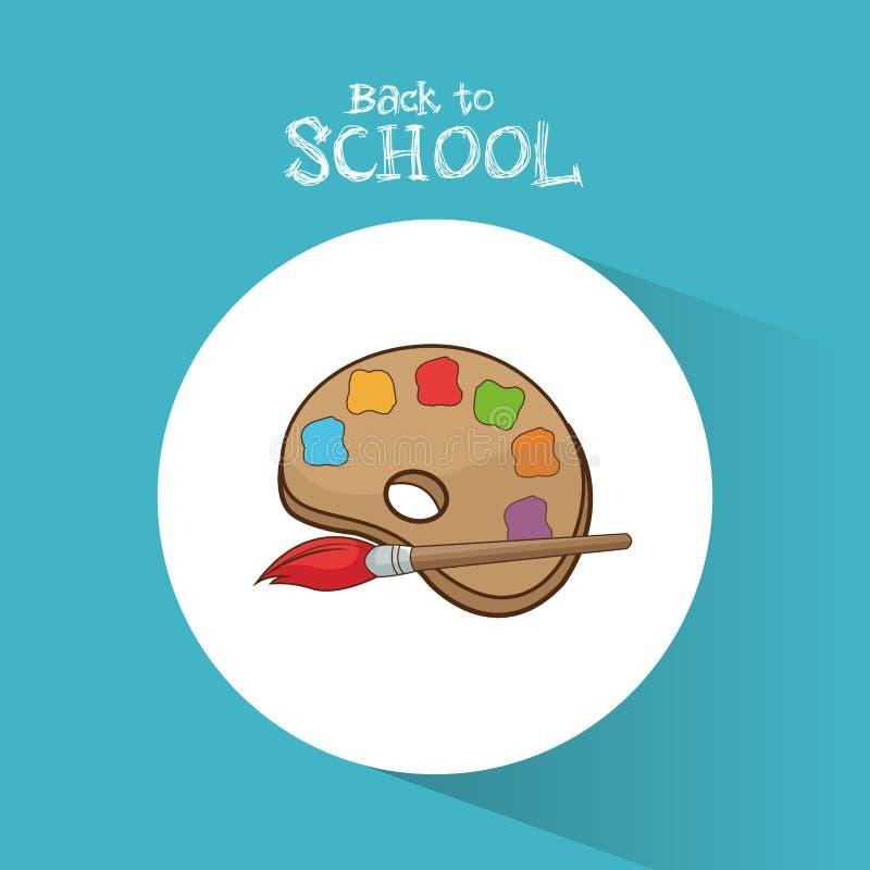 Popiera szkoły palety farby koloru muśnięcie ilustracja wektor