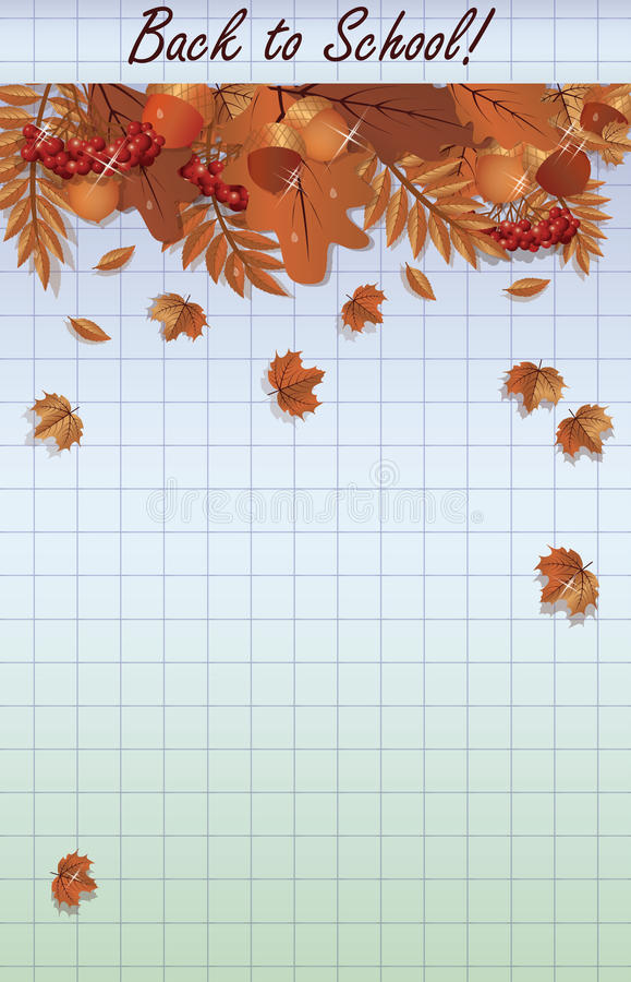 Download Popiera szkoły tło, wektor ilustracja wektor. Ilustracja złożonej z komórka - 57674051