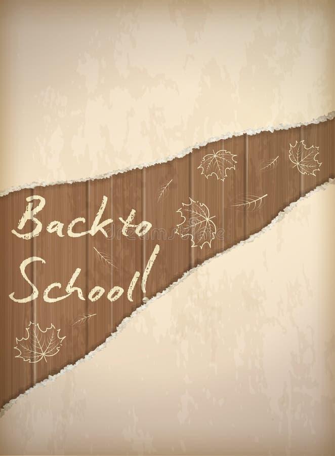Popiera szkoły tapeta z liść kredy wzorem ilustracja wektor
