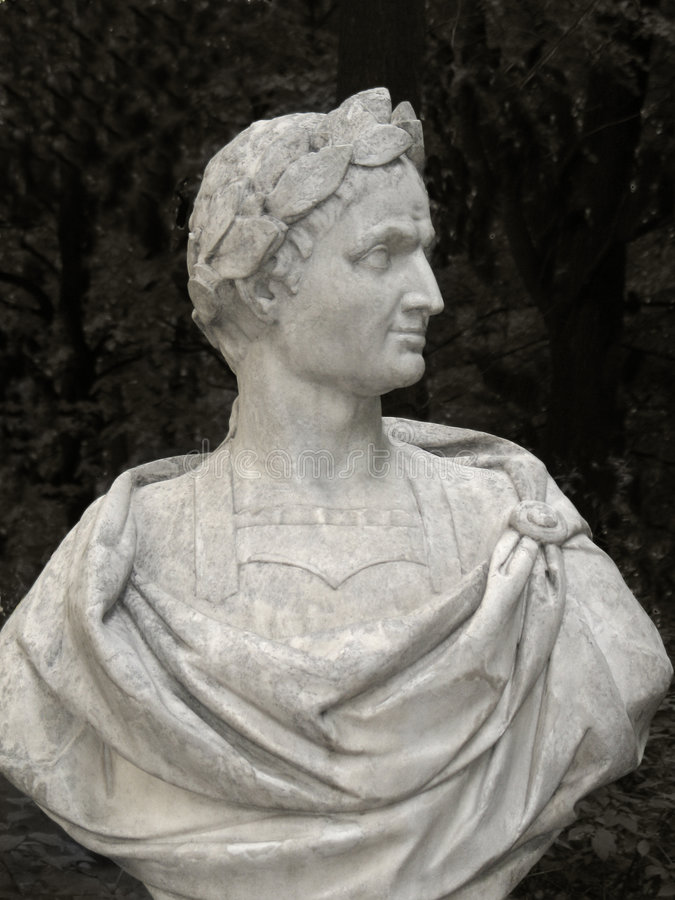 popiersie Caesar Julius obraz royalty free