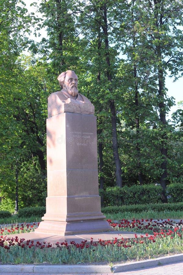 Popiersie Konstantin Eduardovich Tsiolkovsky sławny Rosyjski naukowa antenat nowożytne astronautyka w Moskwa obrazy stock