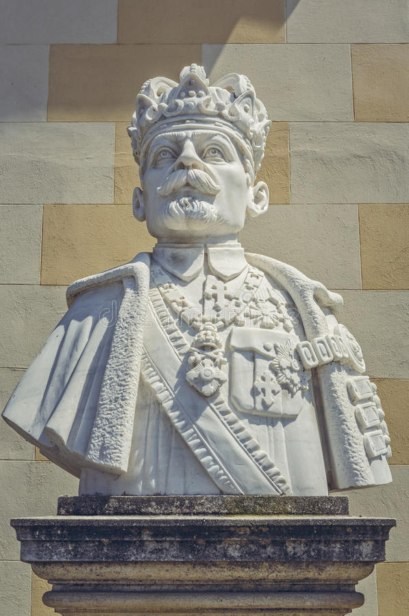 Popiersie królewiątko Ferdinand Ja Rumunia obrazy royalty free