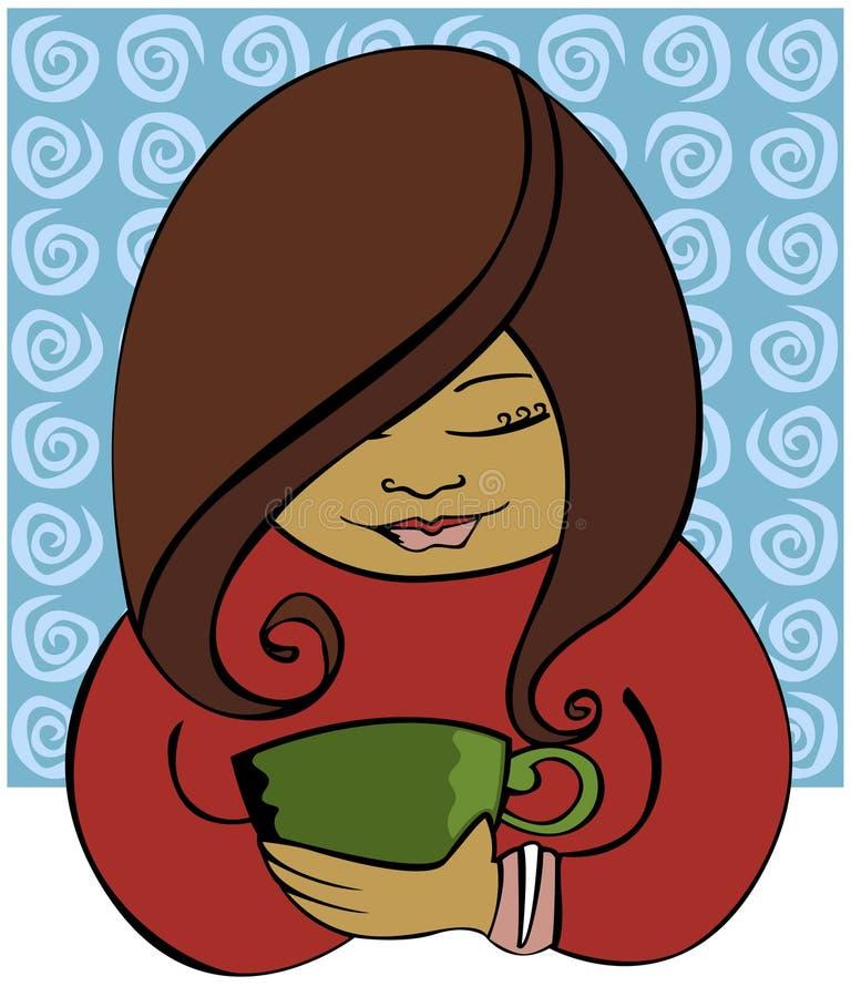 popijanie kawy royalty ilustracja