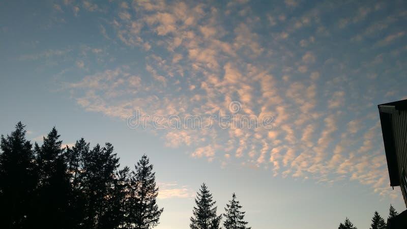 Popkorn chmury zdjęcie stock
