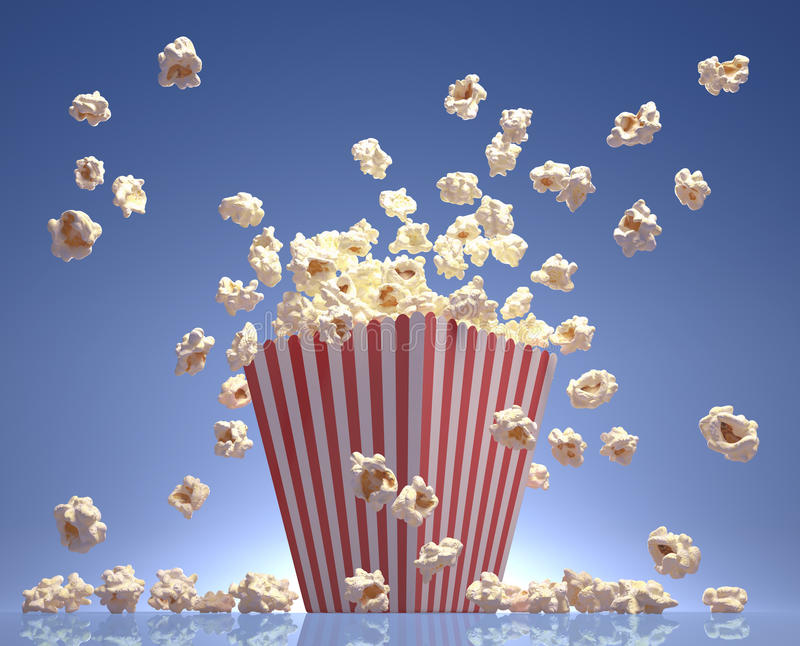 Download Popkornu latanie zdjęcie stock. Obraz złożonej z kukurudza - 27975470