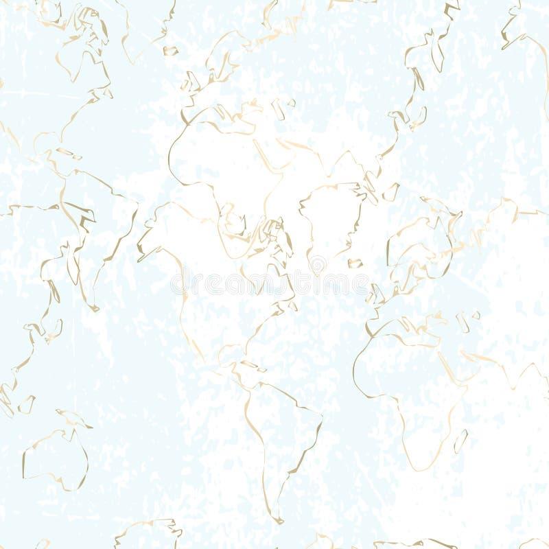 Poplątany złoto linii wzór ilustracja wektor