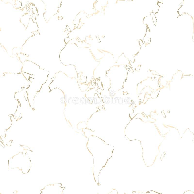 Poplątany złoto linii wzór royalty ilustracja