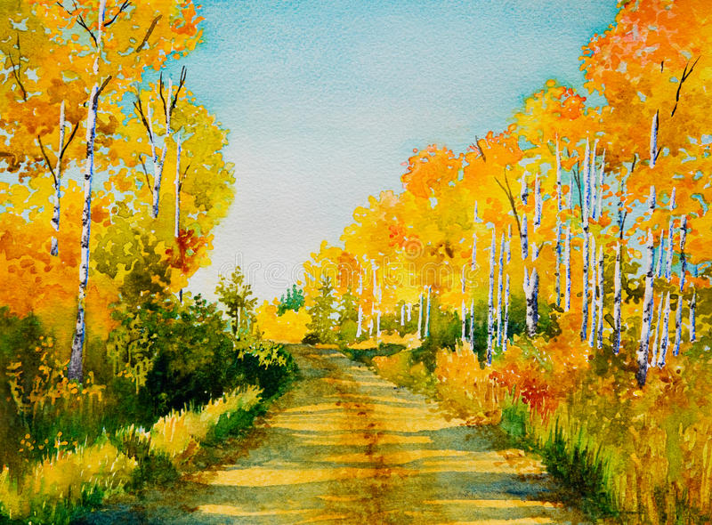 Download Poplar Road stock illustration. Image of picture, country - 16345804