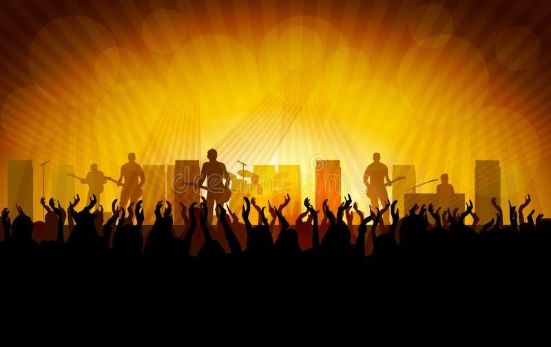 Popmusic konsert vektor illustrationer