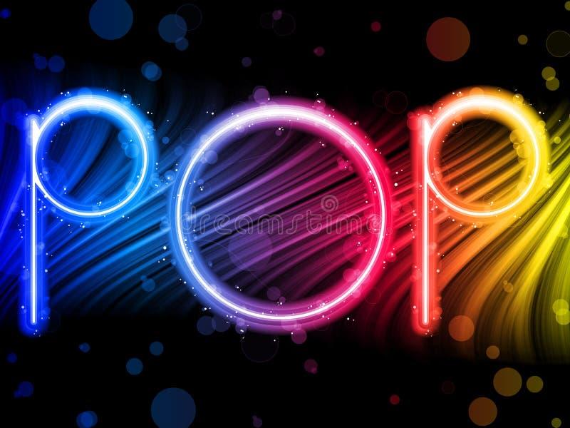 Popmusik-Party-Auszug auf schwarzem Hintergrund stock abbildung