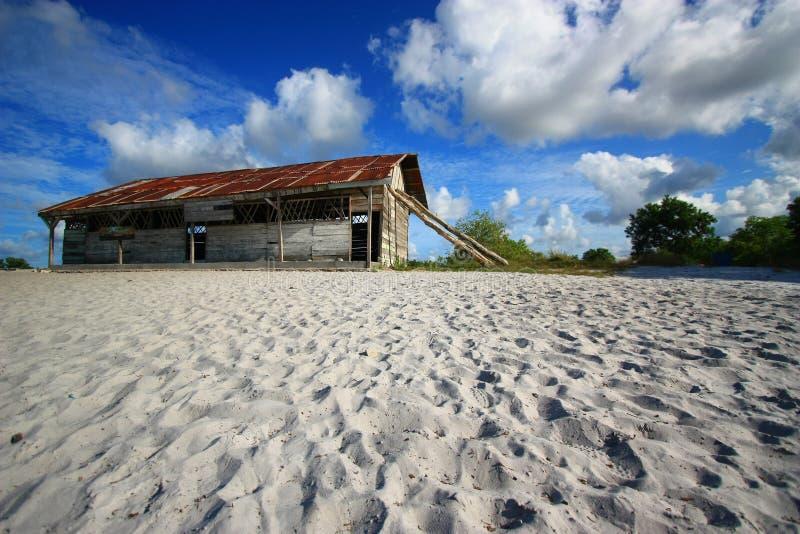 Popołudnie na wybrzeżu na Belitong wyspie zdjęcie stock
