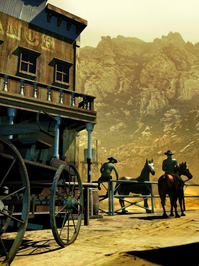 Popołudnie przy rancho ilustracji