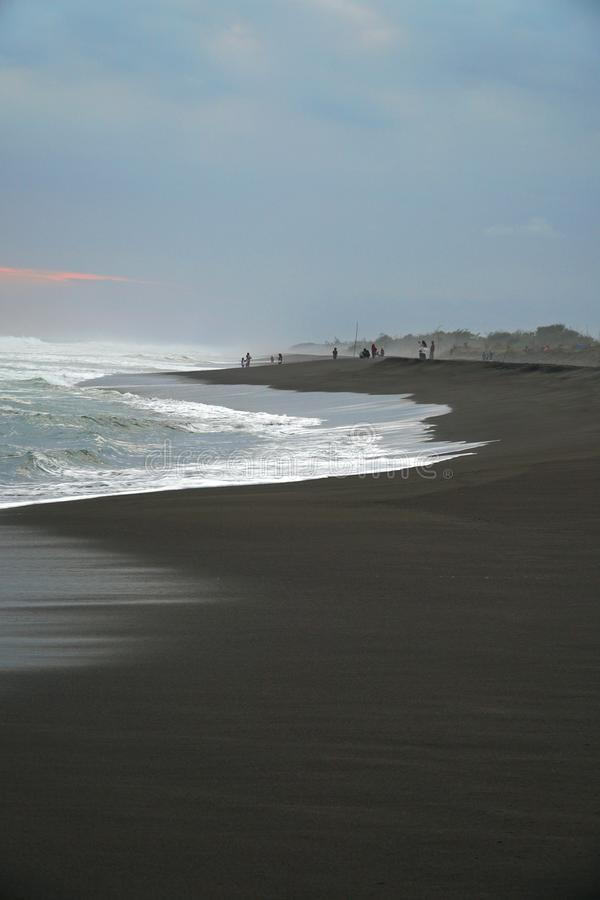 popołudniowa atmosfera na plaży obrazy royalty free