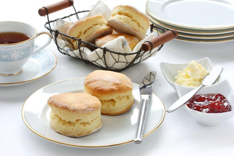 popołudniowa przerwy scone herbata obraz royalty free