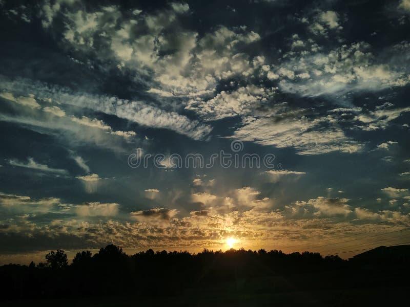 Popołudniowi nieba zdjęcie stock