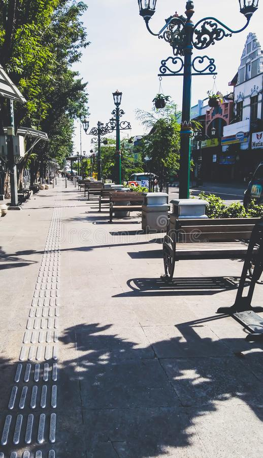Popołudniowy spacer przy Malioboro zdjęcie royalty free