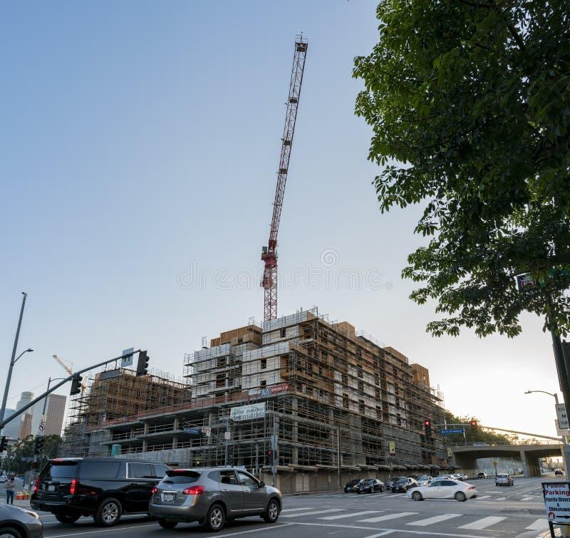 Popołudniowy widok budowa blisko Chinatown obrazy royalty free