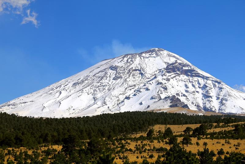 Popocatepetl nationalpark VII royaltyfri foto