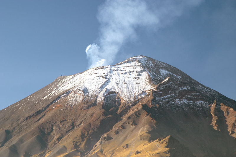 Popocatepetl Vulkan stockfotografie