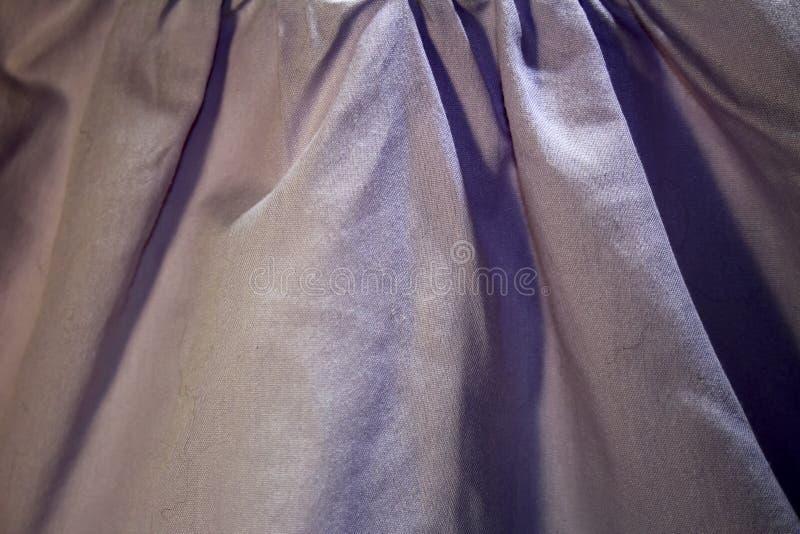 Popolare del tessuto del lillà della luce del cotone fotografie stock