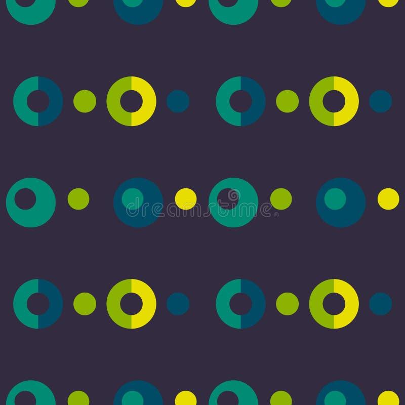 Poppa bubblar upp den sömlösa modellen för symmetrin stock illustrationer