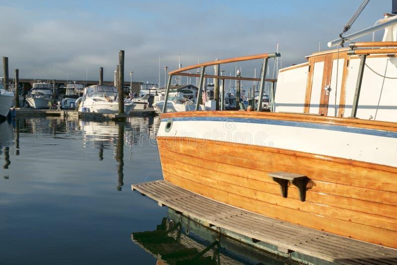 Poppa classica dell'yacht fotografia stock libera da diritti