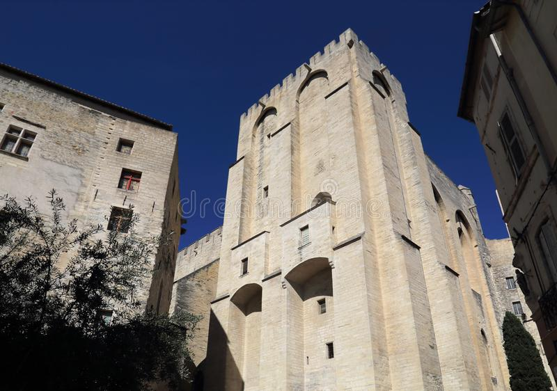 Poppalast in Avignon, Frankreich stockbilder