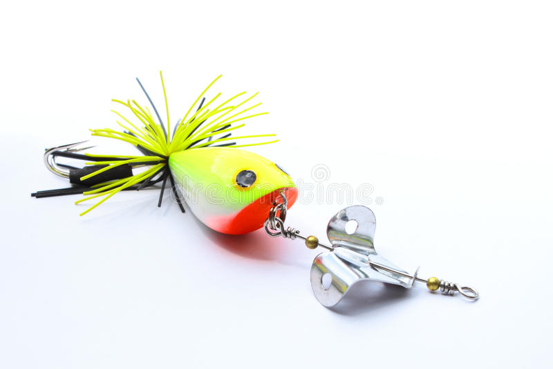 Popper blade style of bait fish. Item on the fishing game sport stock images