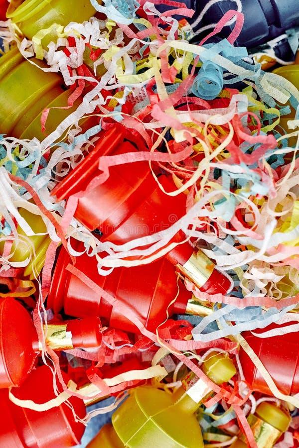 Poppers del partido en blanco fotografía de archivo libre de regalías