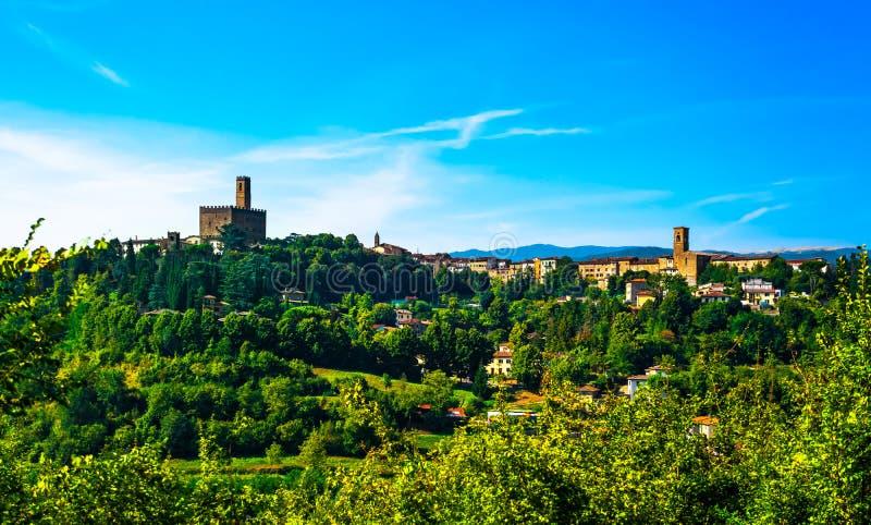 Poppi medieval village panoramic view. Casentino Arezzo, Tuscany. Poppi medieval village and castle panoramic view. Casentino Arezzo, Tuscany Italy Europe royalty free stock photo