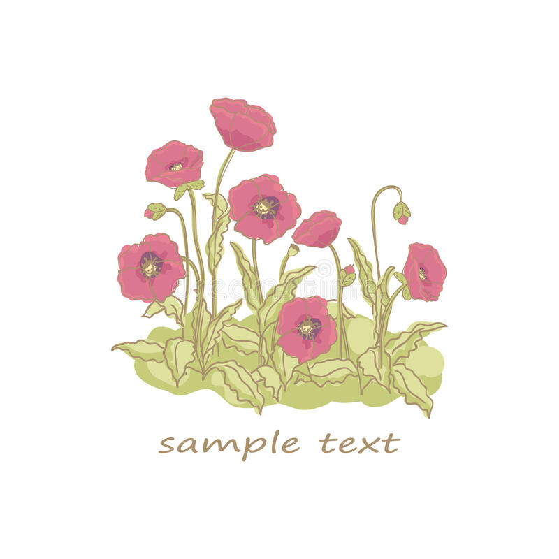 Download Poppies stock vector. Illustration of decoration, cute - 28081374