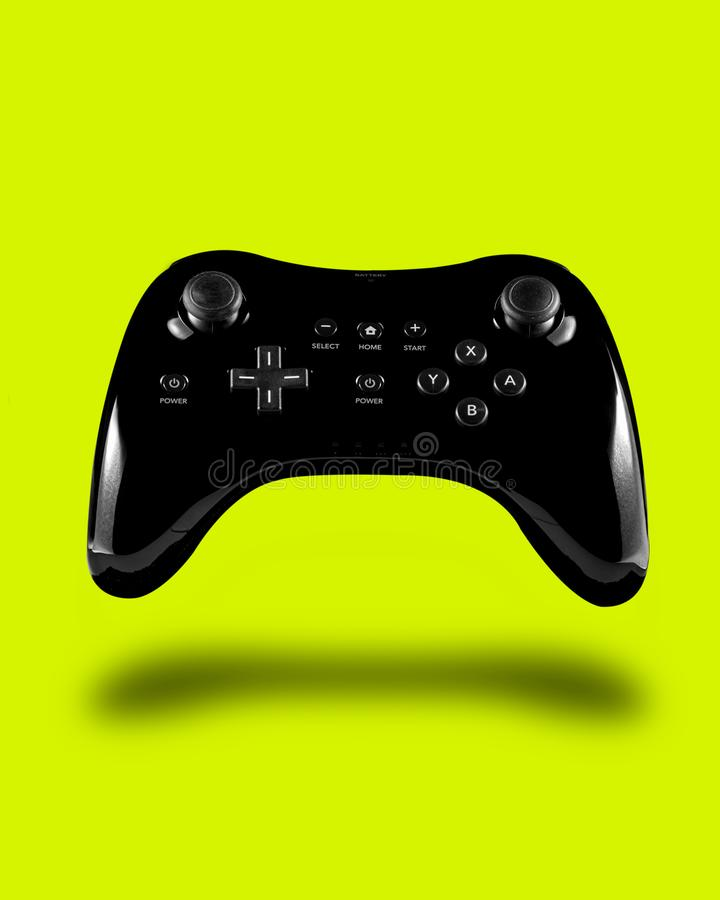 Popping Controller floating gaming royalty free stock photography