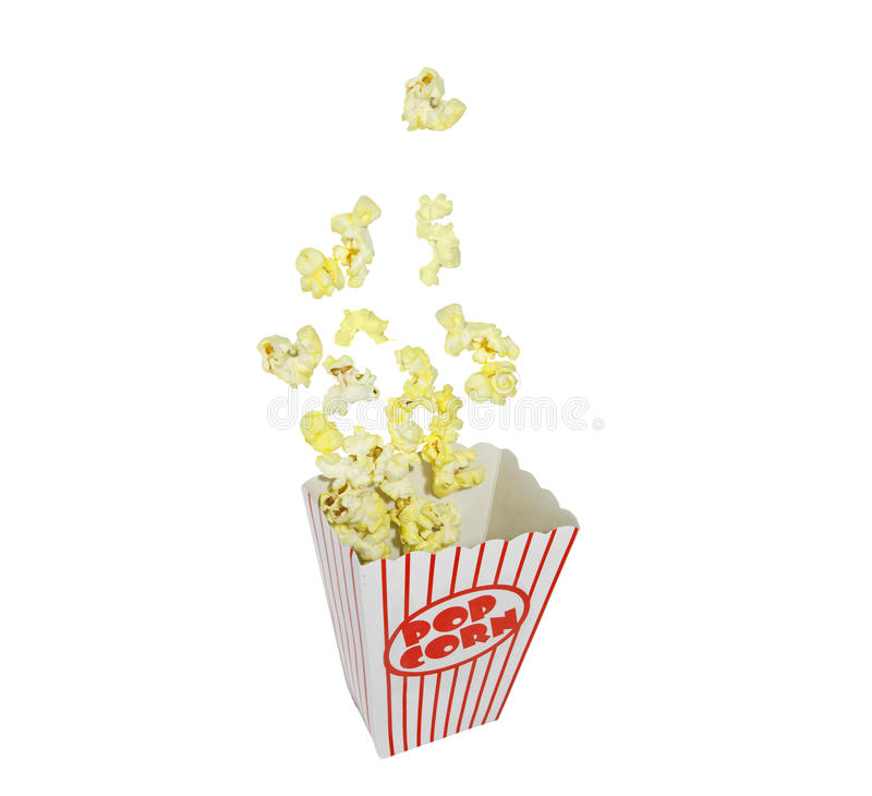 Popping Popcorn Box stock images