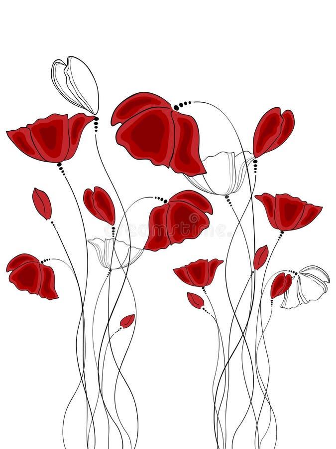 Poppy royalty free illustration