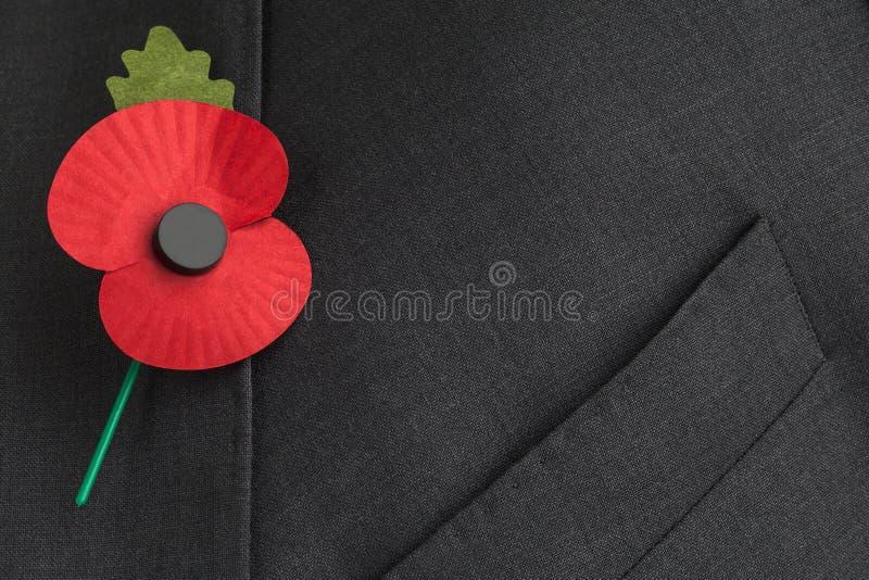 Poppy Appeal para a relembrança/Poppy Day. foto de stock
