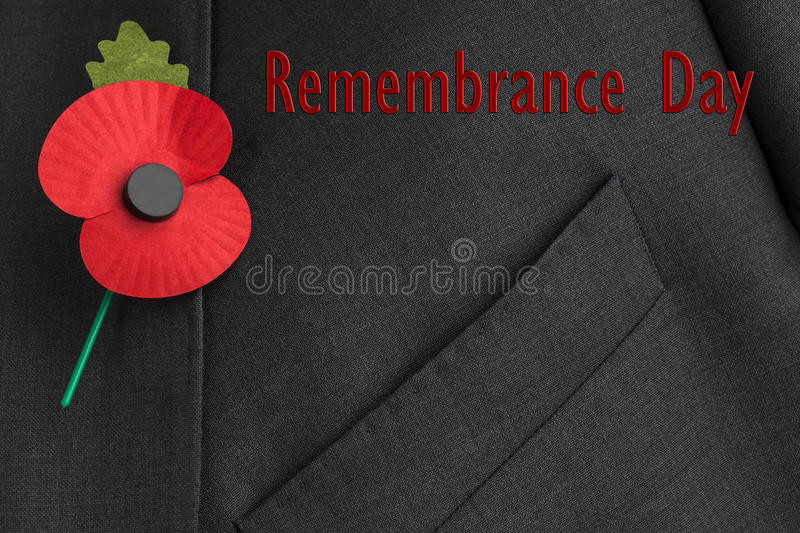 Download Poppy Appeal For Remembrance / Poppy Day. Stock Photo - Image of wear, flanders: 30719178