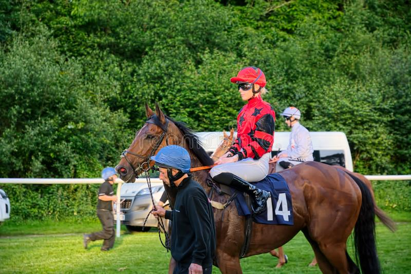Poppy Bridgwater, apprentice UK jockey royalty free stock photo