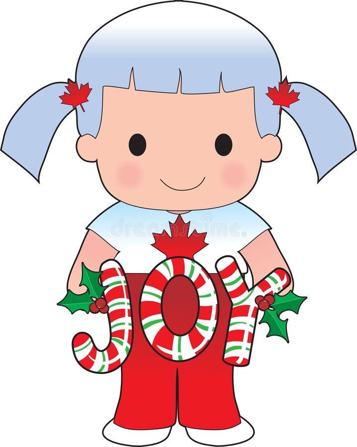 Poppy Canadian Christmas royalty free illustration