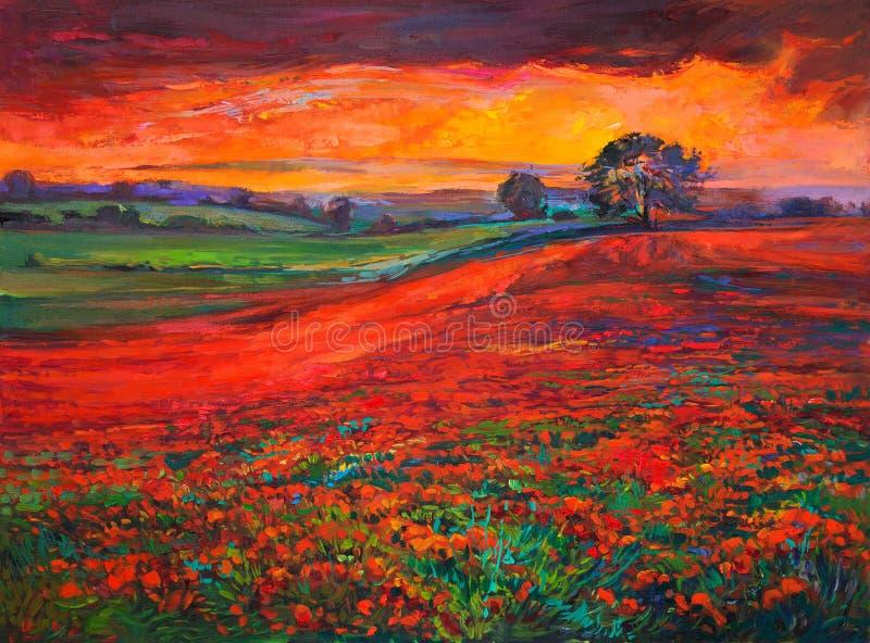 Poppy Fields ilustração stock