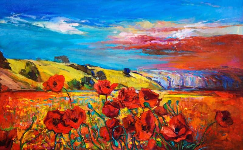 Poppy Fields ilustração royalty free