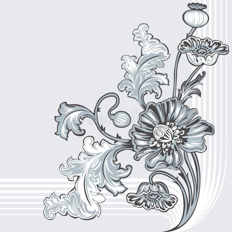 Poppy Flower vector illustration