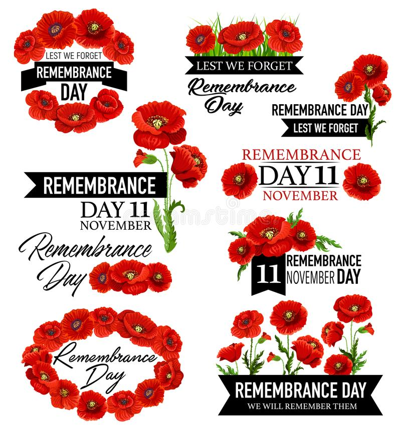Free Poppy Flower Memorial Wreath For Remembrance Day Royalty Free Stock Images - 120301489
