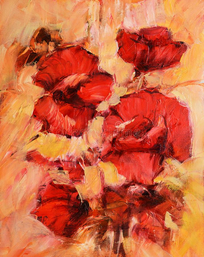 Poppy flowers handmade oil painting on canvas stock illustration download poppy flowers handmade oil painting on canvas stock illustration illustration of background floral mightylinksfo